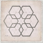 Geometric Pink No 24 Wrapped Canvas Giclee Art Print Wall Art