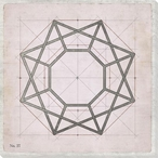 Geometric Pink No 27 Wrapped Canvas Giclee Art Print Wall Art