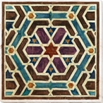 Geometric Tile 4 Wrapped Canvas Giclee Art Print Wall Art