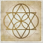 Geometrics 1 Wrapped Canvas Giclee Art Print Wall Art
