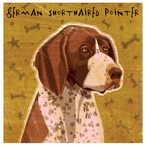 German Shorthaired Pointer Beverage Coasters by JW Golden, Set of 12