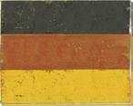 Germany: German Flag Wrapped Canvas Giclee Print Wall Art
