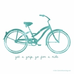 Get a Grip Go For a Ride Bike Absorbent Beverage Coasters, Set of 12