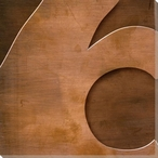 Gill Sans Ultra Bold Number 6 Wrapped Canvas Giclee Print Wall Art