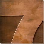 Gill Sans Ultra Bold Number 7 Wrapped Canvas Giclee Print Wall Art
