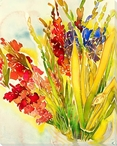 Glaieuls Flowers Wrapped Canvas Giclee Print Wall Art