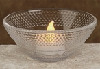 Glass Dimple Floater Bowls for Floating Candles, Set of 6