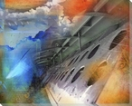Gliding Wrapped Canvas Giclee Print Wall Art