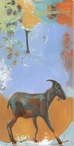 Goated Goat Walking Wrapped Canvas Giclee Print Wall Art