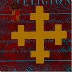 Gold Cross Wrapped Canvas Giclee Print Wall Art