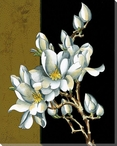 Gold Sonata Flowers I Wrapped Canvas Giclee Print Wall Art