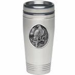 Golden Eagle Bird Stainless Steel Travel Mug with Pewter Accent