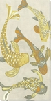 Golden Koi Fish I Wrapped Canvas Giclee Print Wall Art