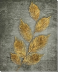 Golden Leaves 1 Wrapped Canvas Giclee Print Wall Art