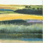 Golden Meadows II Wrapped Canvas Giclee Print Wall Art