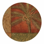 Golden Palm I Sandstone Coasters by Phillippa Collection, Set of 8