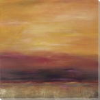 Golden Sunset Wrapped Canvas Giclee Print Wall Art