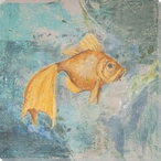Goldfish Wrapped Canvas Giclee Print Wall Art