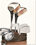 Golf Clubs Wrapped Canvas Giclee Print Wall Art