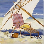 Gone for a Walkabout Beach Wrapped Canvas Giclee Print Wall Art