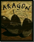Gourmet Aragon Spanish Olives Wrapped Canvas Giclee Print