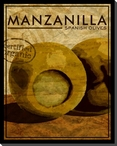 Gourmet Manzanilla Spanish Olives Wrapped Canvas Giclee Print