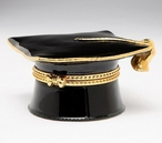 Graduation Hat Porcelain Hinge Box