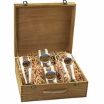 Grand Canyon Pilsner Glasses & Beer Mugs Box Set with Pewter Accents