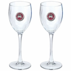 Grand Old Party Republican Red Pewter Wine Glass Goblets, Set of 2