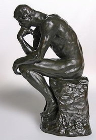 grande the thinker statue by auguste rodin museum art reproduction