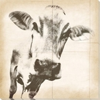 Graphic Cow 2 Wrapped Canvas Giclee Print Wall Art