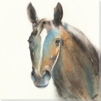 Gray Horse Wrapped Canvas Giclee Print Wall Art