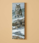 Gray Wolf Wolves Wrapped Canvas Giclee Print Wall Art