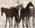 Grazing Equine Horses II Wrapped Canvas Giclee Print Wall Art