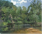 Great Day on the River Wrapped Canvas Giclee Print Wall Art