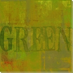 """Green"" Block Wrapped Canvas Giclee Print Wall Art"