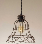 Green Rust Buttercup Metal Pendant Lamp Light