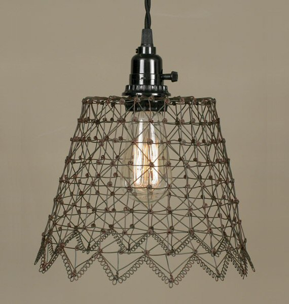 green rust french wire pendant lamp light lighting fixtures rh jatashop com Lamp Socket Wiring Wiring a Lamp with Bulbs 3