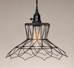 Green Rust Vintage Wire Pendant Lamp Light