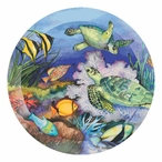 Green Sea Turtles Beverage Coasters by K. Parr McKenna, Set of 12