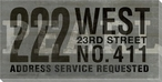 Grey Pearl Address Service Requested Sign Wrapped Canvas Print