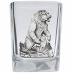 Grizzly Bear Pewter Accent Shot Glasses, Set of 4