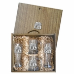 Grizzly Bear Pilsner Glasses & Beer Mugs Box Set with Pewter Accents