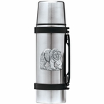 Grizzly Bear Stainless Steel Thermos with Pewter Accent