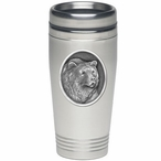 Grizzly Bear Stainless Steel Travel Mug with Pewter Accent