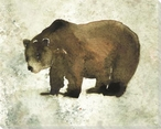 Grizzly Bear Wrapped Canvas Giclee Art Print Wall Art