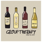 Group Therapy Absorbent Beverage Coasters by Wine is Life, Set of 12