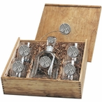 Guitars Capitol Decanter & DOF Glasses Box Set with Pewter Accents