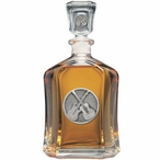Guitars Capitol Glass Decanter with Pewter Accents