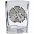 Guitars Pewter Accent Shot Glasses, Set of 4